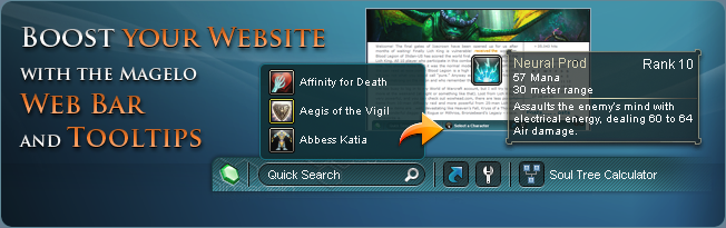 Tooltips and Webbar: Database Quick Search and tooltips including item sources, npc location and more for your website.