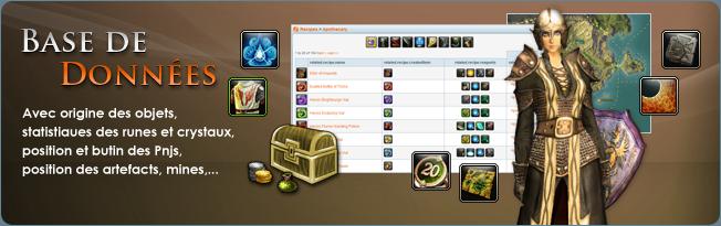 Base de données de Rift: capacités, exploits, artefacts, objets, factions, Pnjs, quêtes, recettes et zones